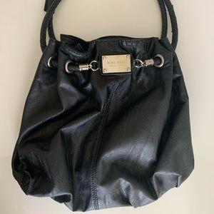 (3/$20) Nine West black bucket shoulder bag